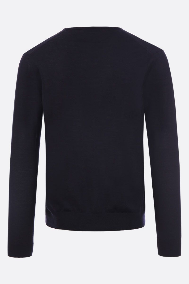 PRADA: combed wool pullover Color Blue_2