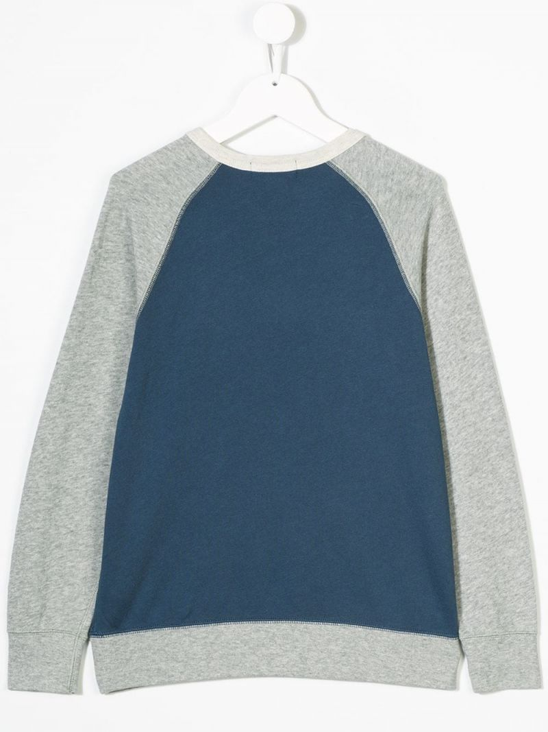 RALPH LAUREN KIDS: Polo embroidered jersey sweatshirt Color Blue_2