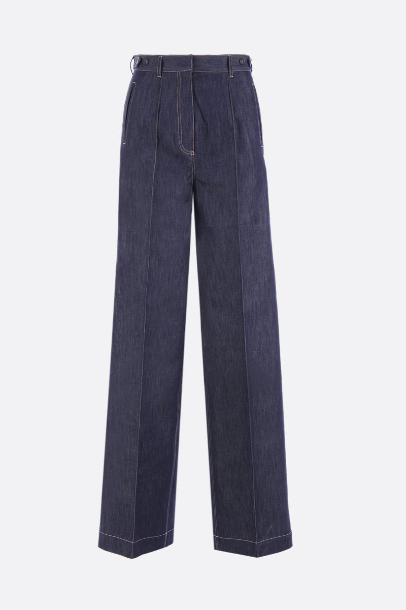 ROKH: denim wide-leg pants Color Blue_1