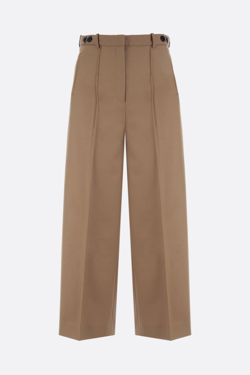 ROKH: wool blend wide-leg pants Color Neutral_1