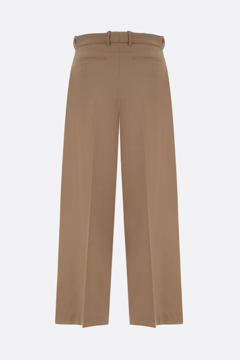 ROKH: wool blend wide-leg pants Color Neutral_2
