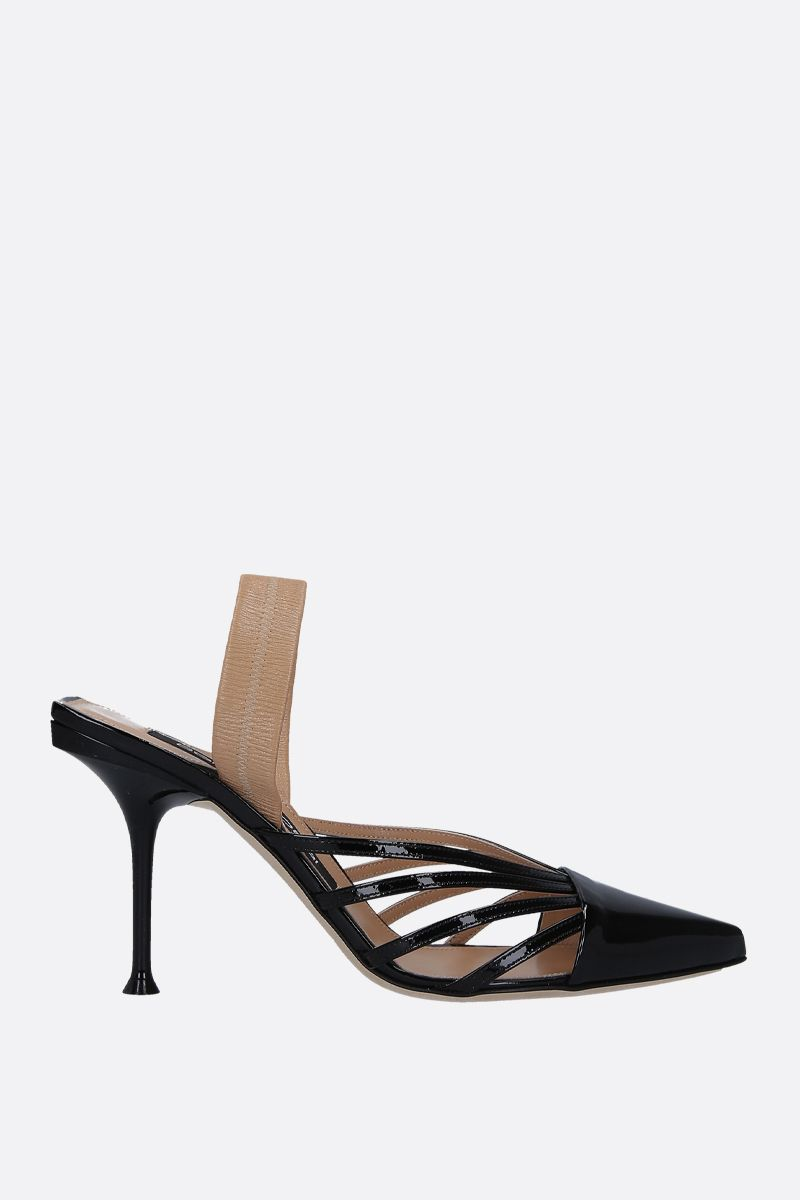 SERGIO ROSSI: sr Milano mules in patent leather and nappa Color Black_1