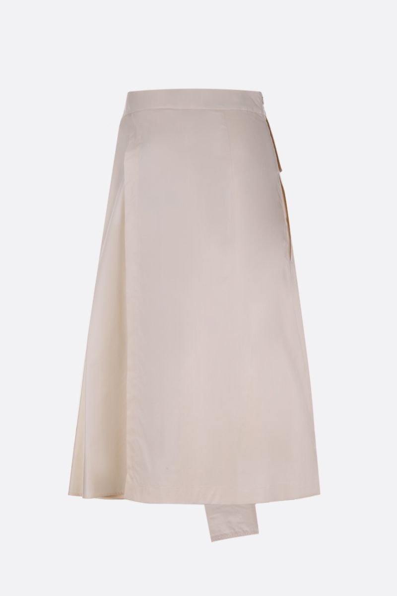 SPORTMAX: Catullo poplin midi skirt Color Neutral_2