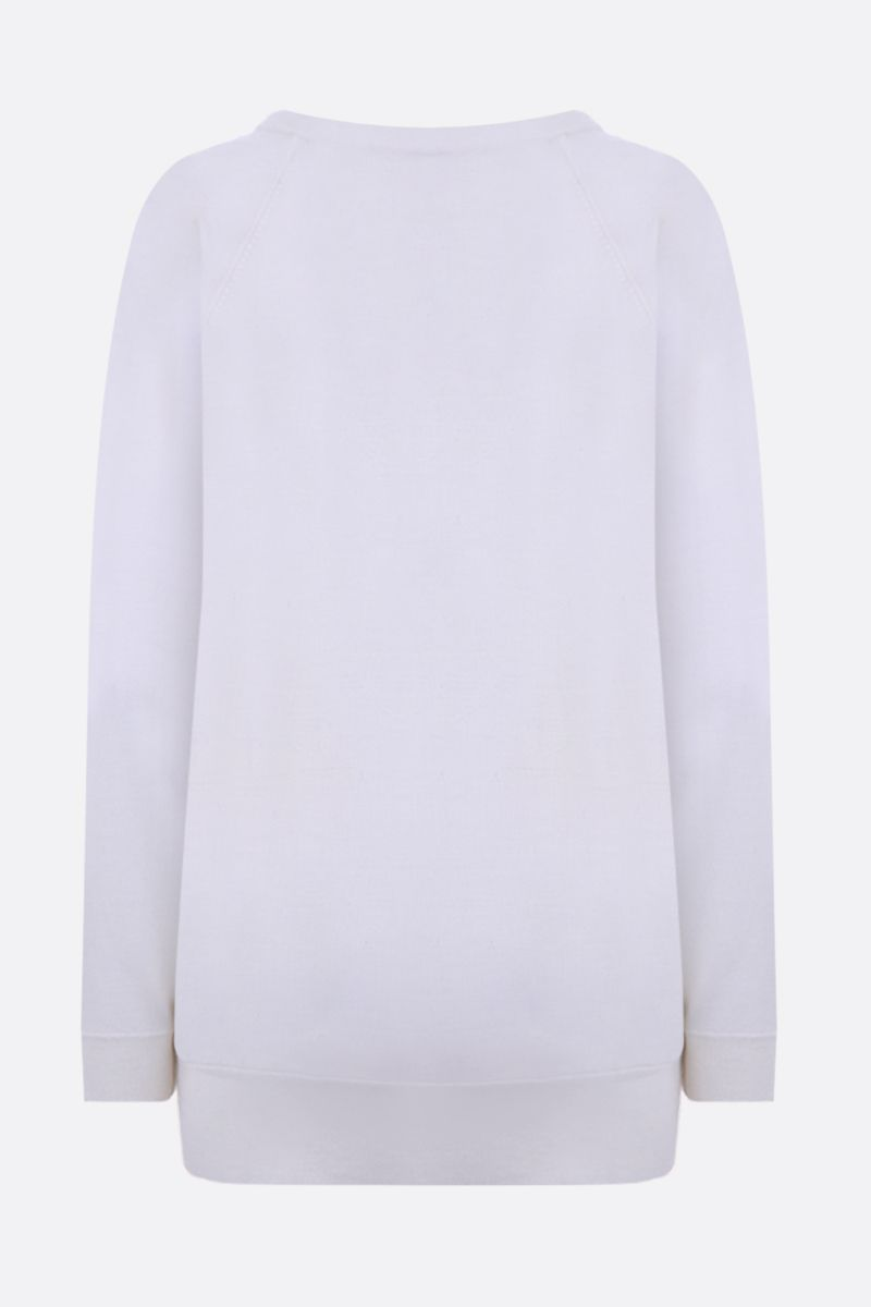 THEORY: merino wool pullover Color White_2