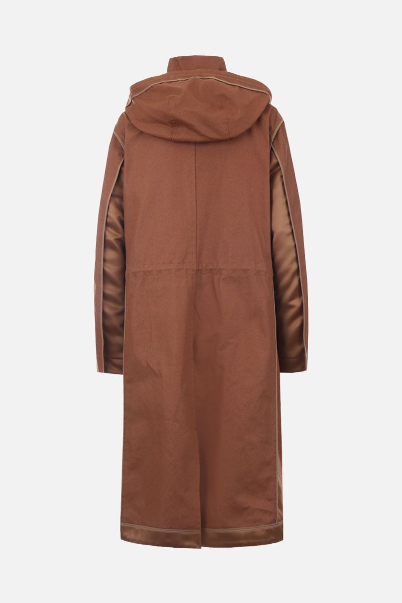 SUEUNDERCOVER: canvas parka with satin inserts Color Neutral_2