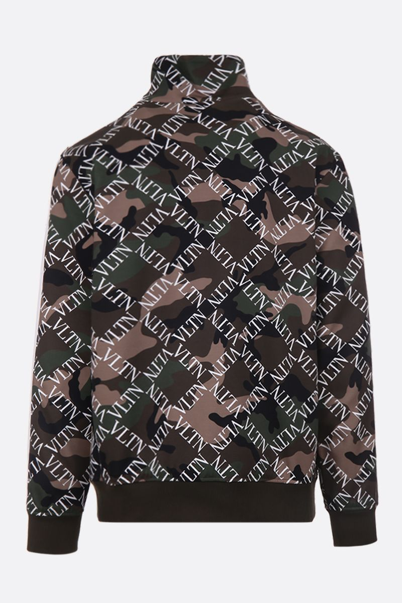 VALENTINO: VLTN Grid full-zip sweatshirt in camouflage jersey Color Multicolor_2