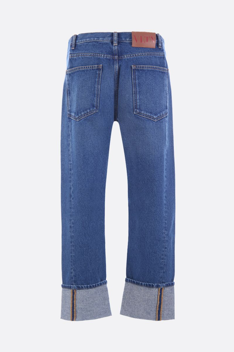 VALENTINO: VLTN straight-fit jeans Color Blue_2