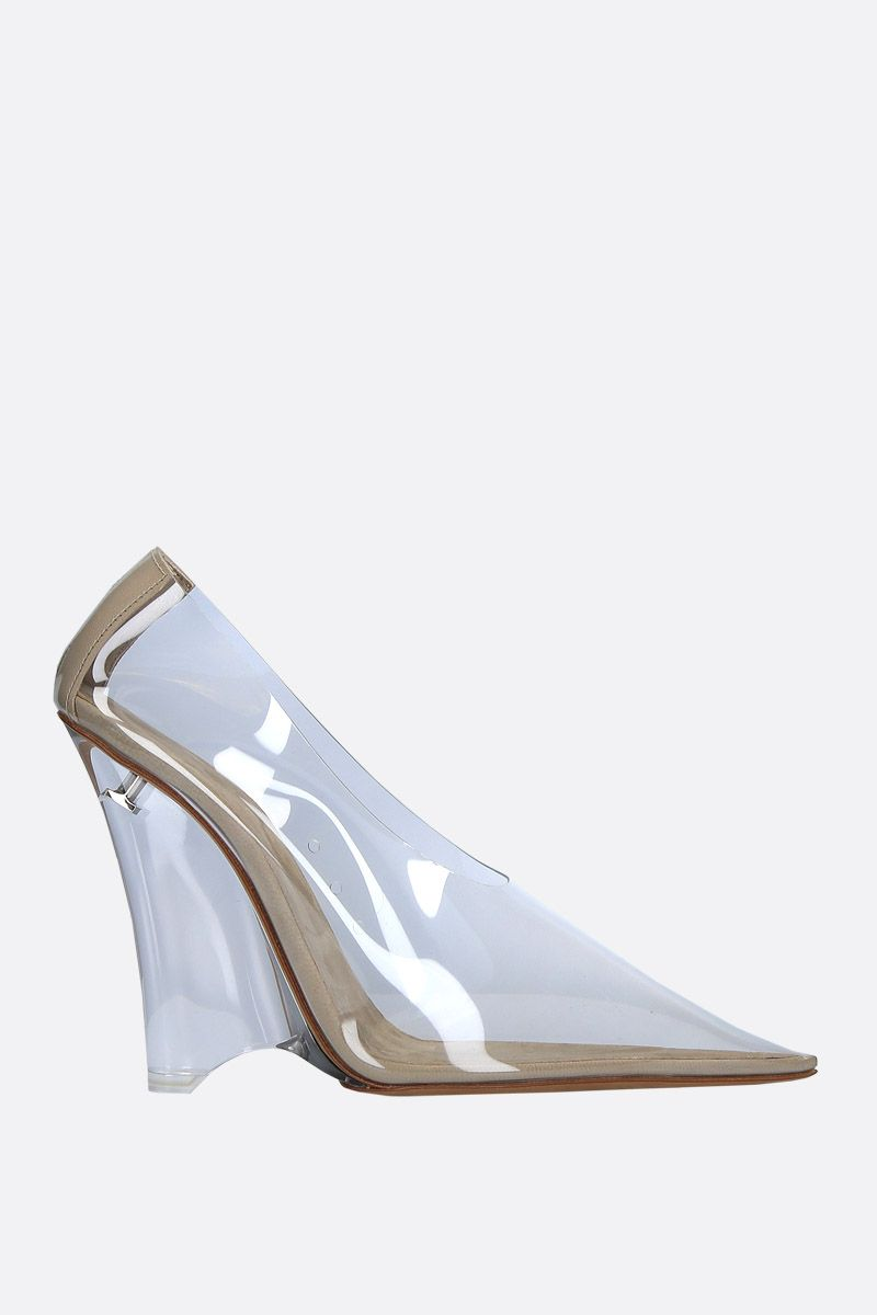 YEEZY: clear PVC wedge pumps Color Neutral_1
