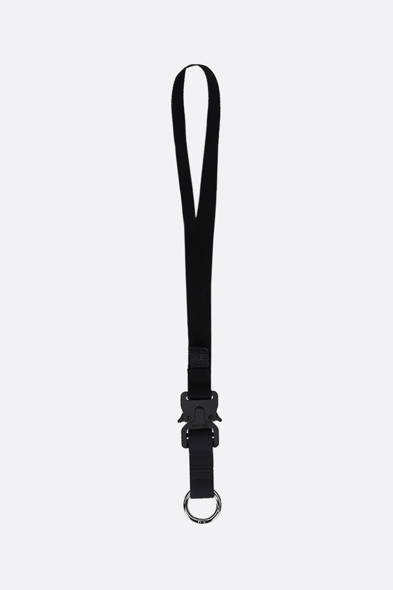 1017 ALYX 9SM: Rollercoaster key lanyard in nylon Color Black_1