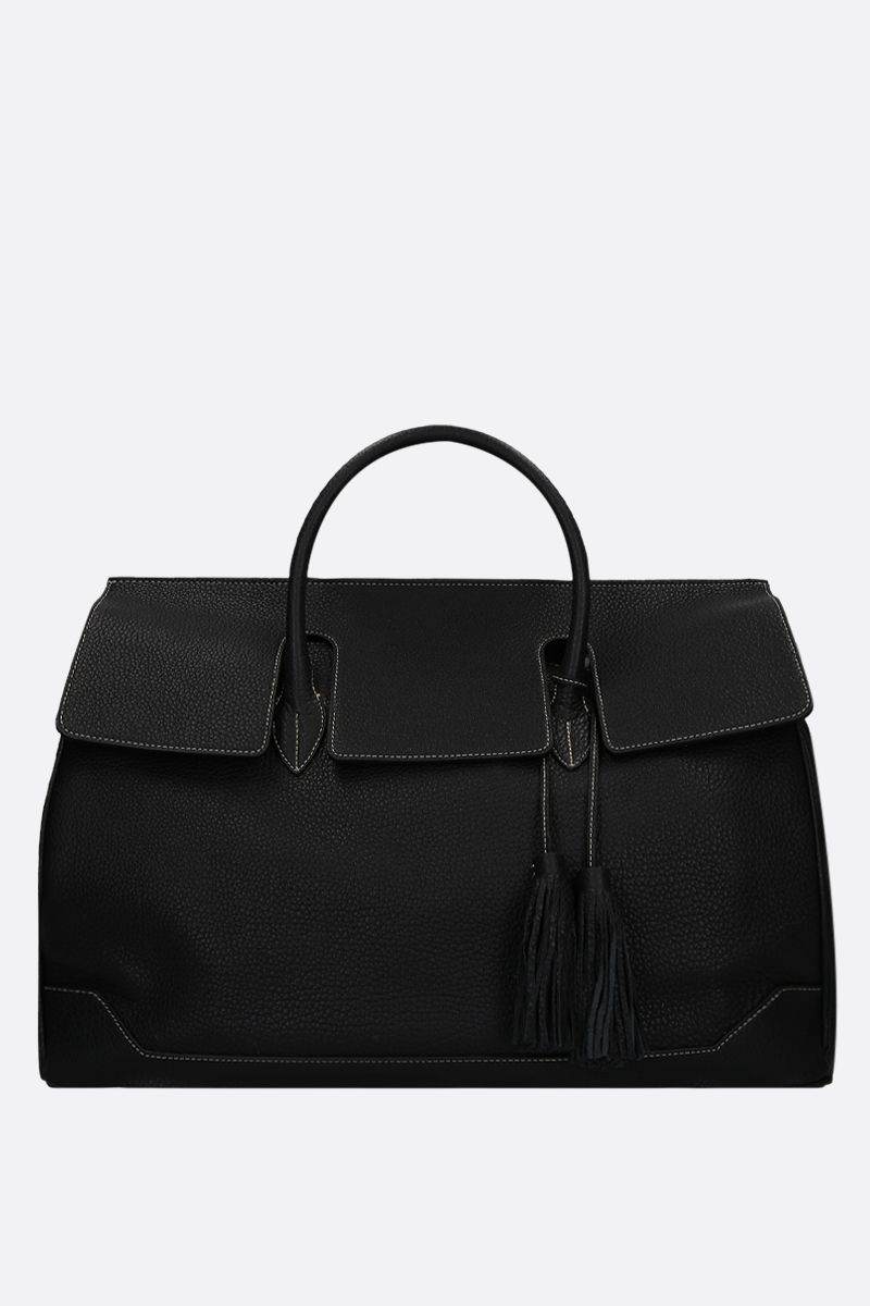 ACATE: Ostro grainy leather handbag Color Black_1
