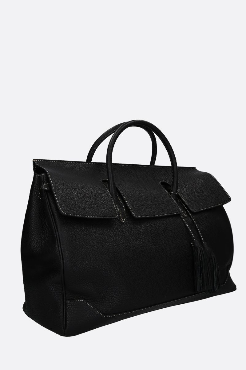 ACATE: Ostro grainy leather handbag Color Black_2