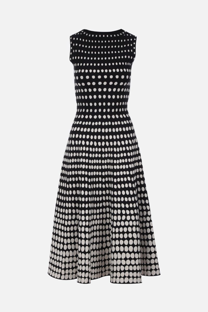 ALAIA: Orion motif stretch knit sleeveless dress Color Black_1