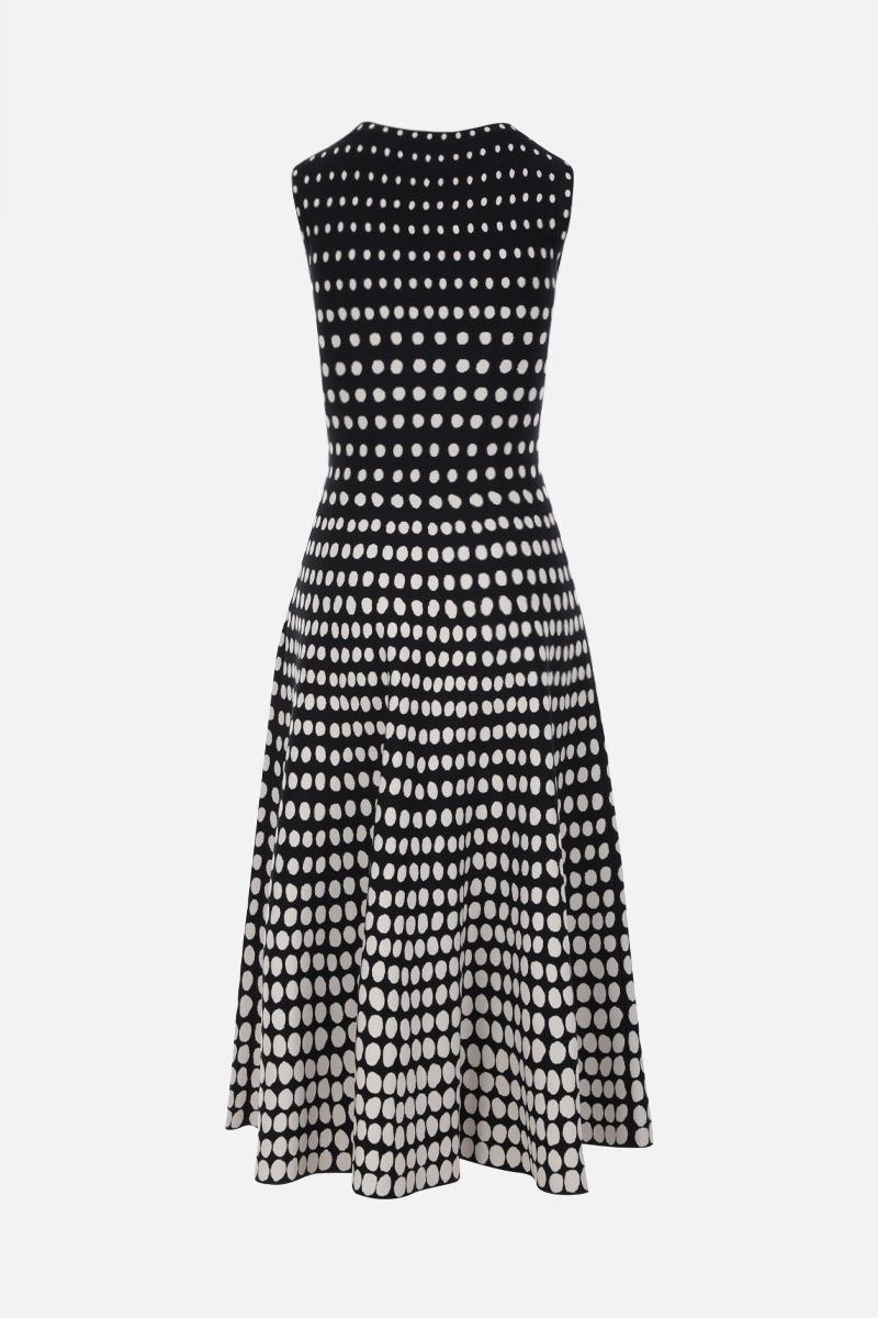 ALAIA: Orion motif stretch knit sleeveless dress Color Black_2