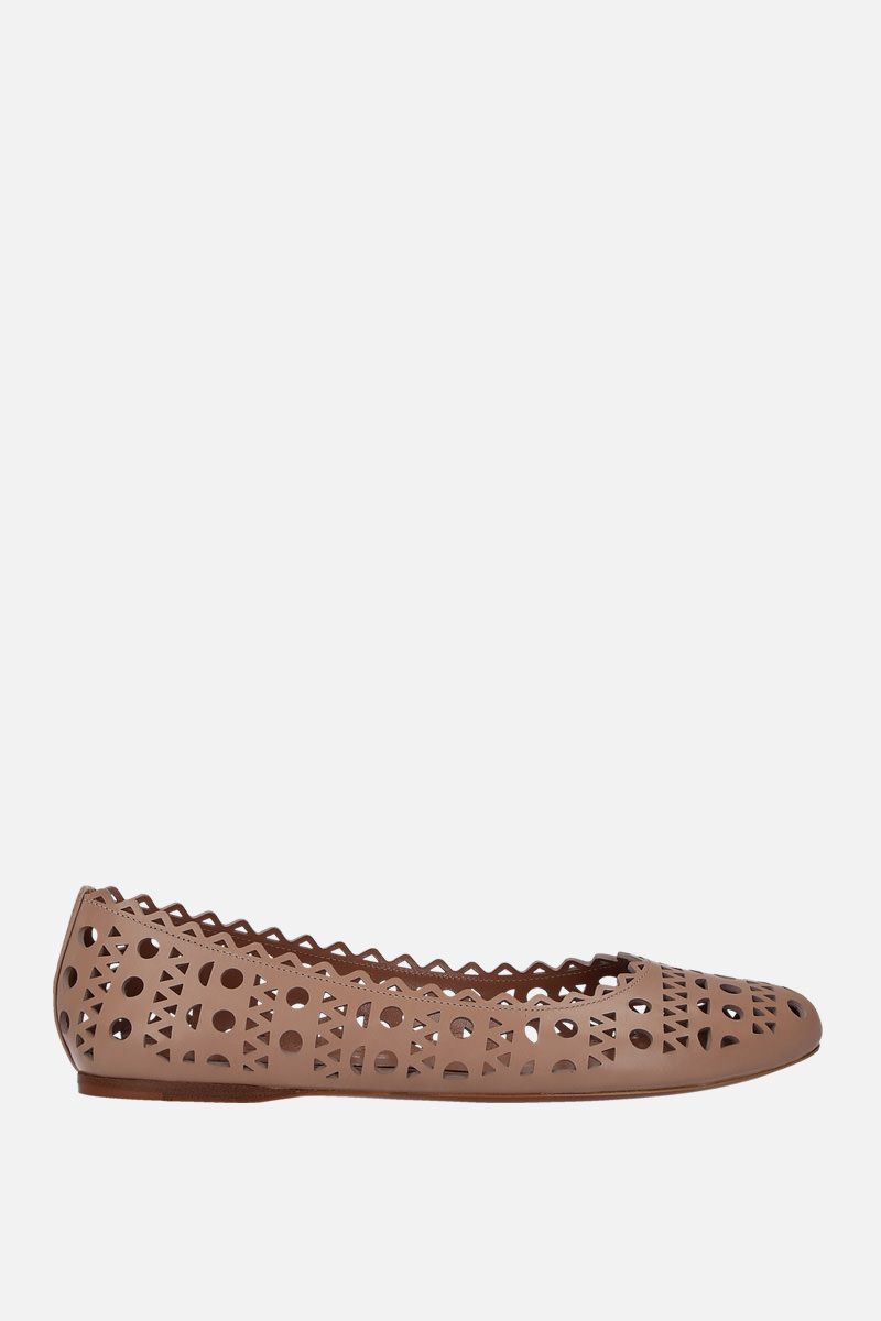 ALAIA: laser-cut leather ballerinas_1