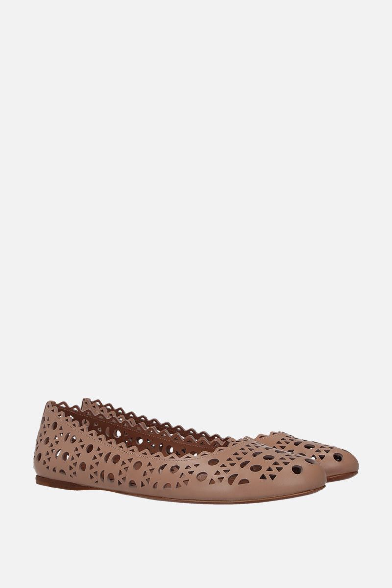 ALAIA: laser-cut leather ballerinas_2