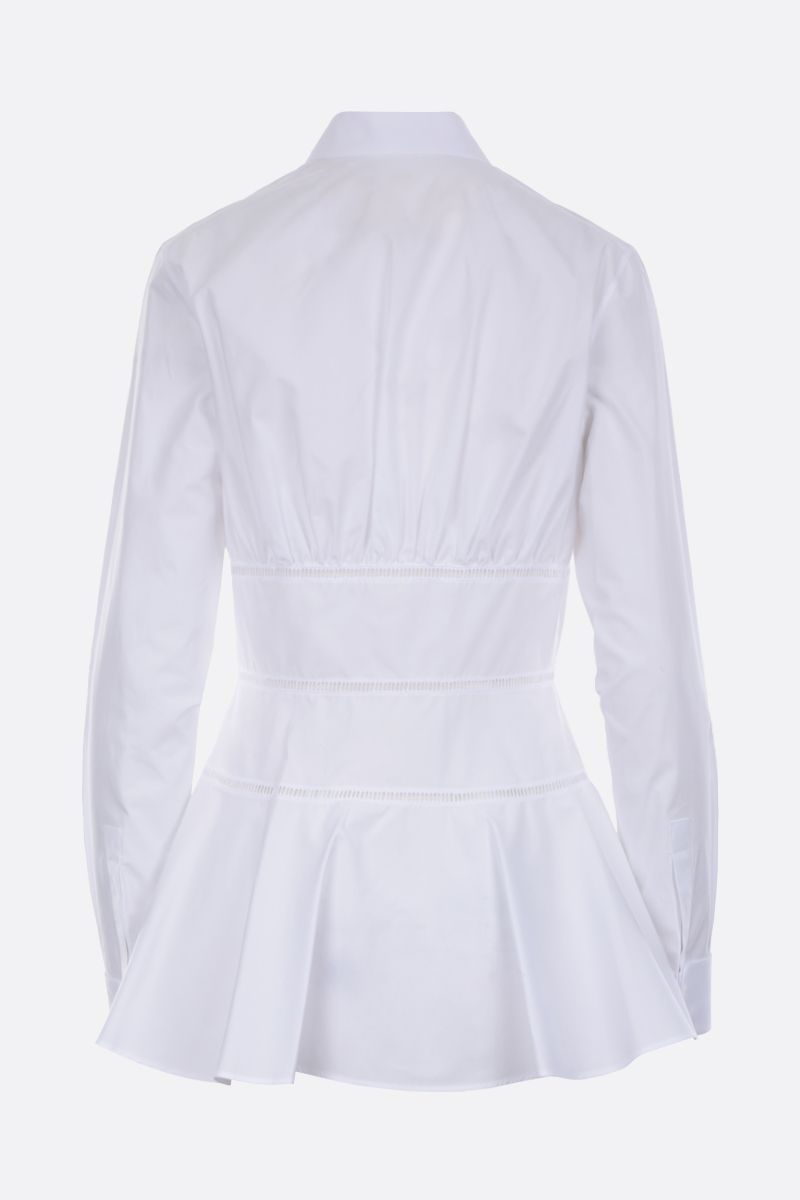 ALAIA: cotton shirt with lace inserts Color White_2