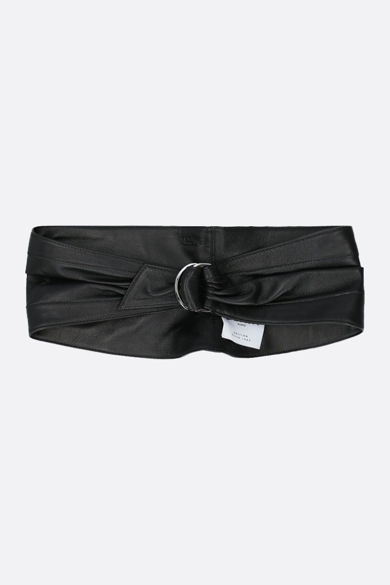 ALAIA: soft nappa waist belt Color Black_1