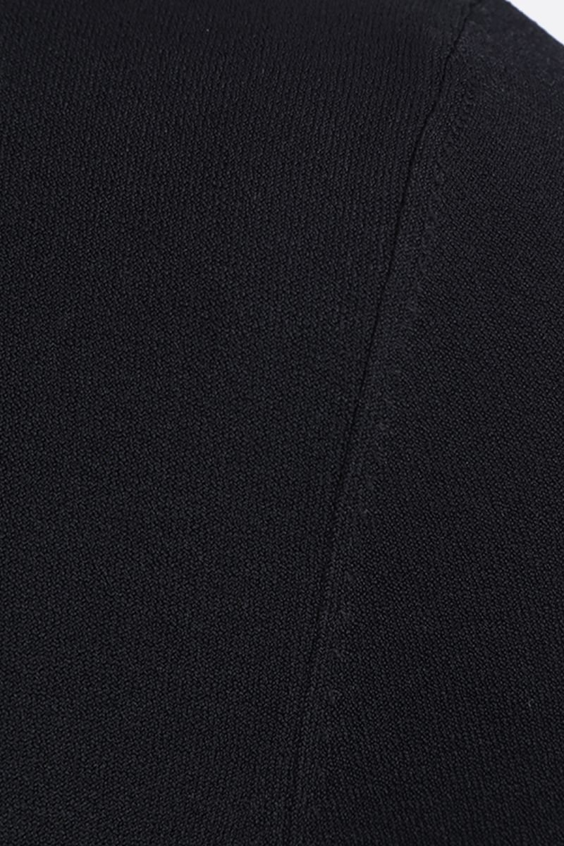 ALAIA: close-fitted stretch knit bodysuit Color Black_5