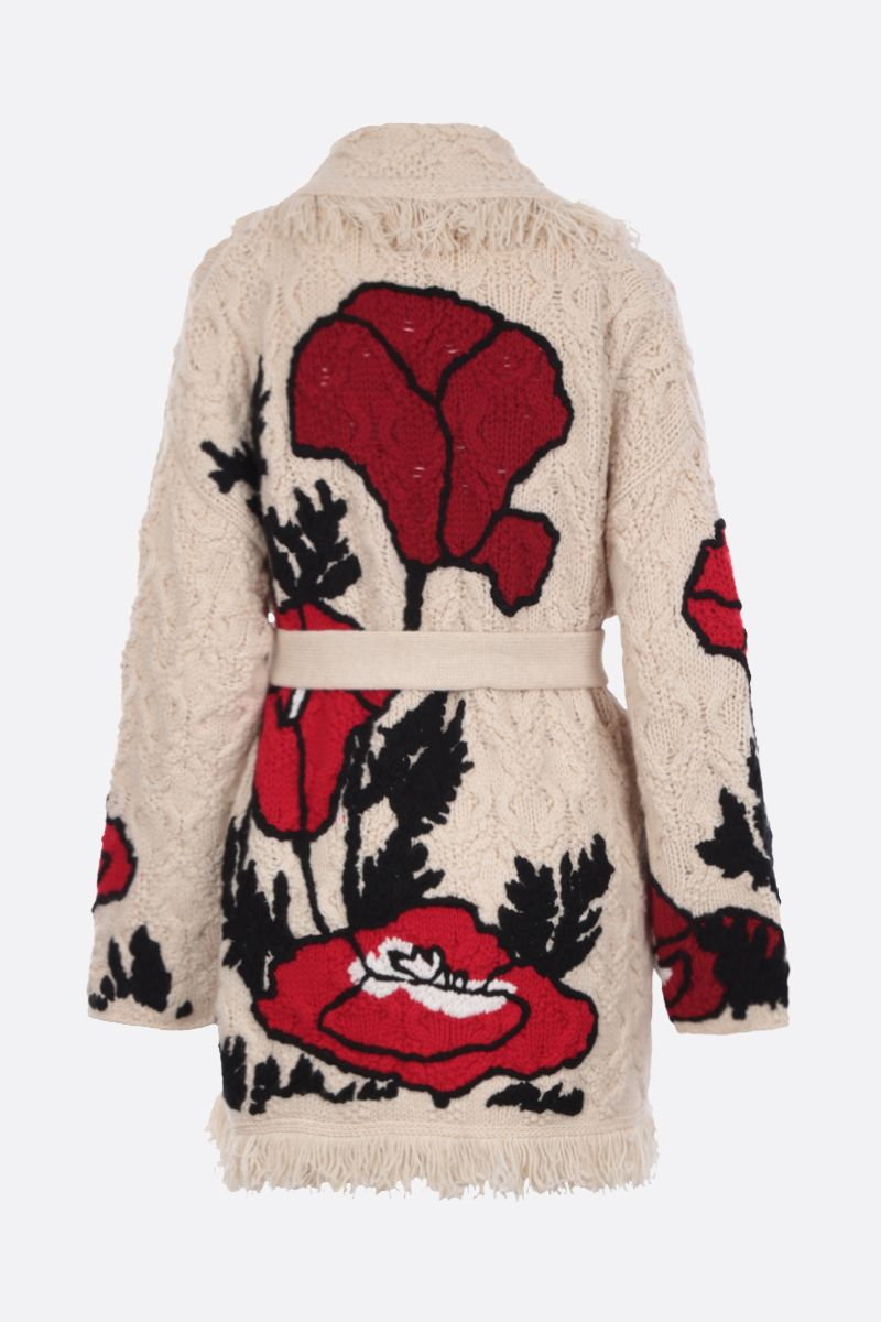 ALANUI: cardigan oversize Red Poppy in cashmere e lana_2