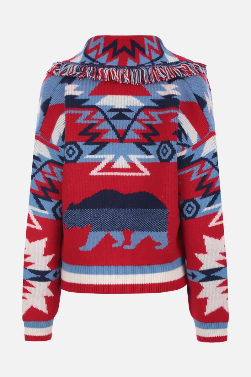 ALANUI: Cali Star cardigan in wool cashmere blend Color Red_2