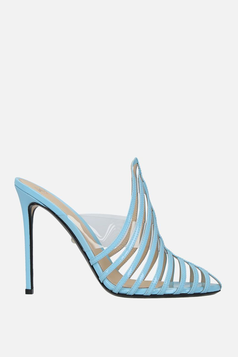 ALEVI' MILANO: Alessandra mules in patent leather and PVC Color Blue_1