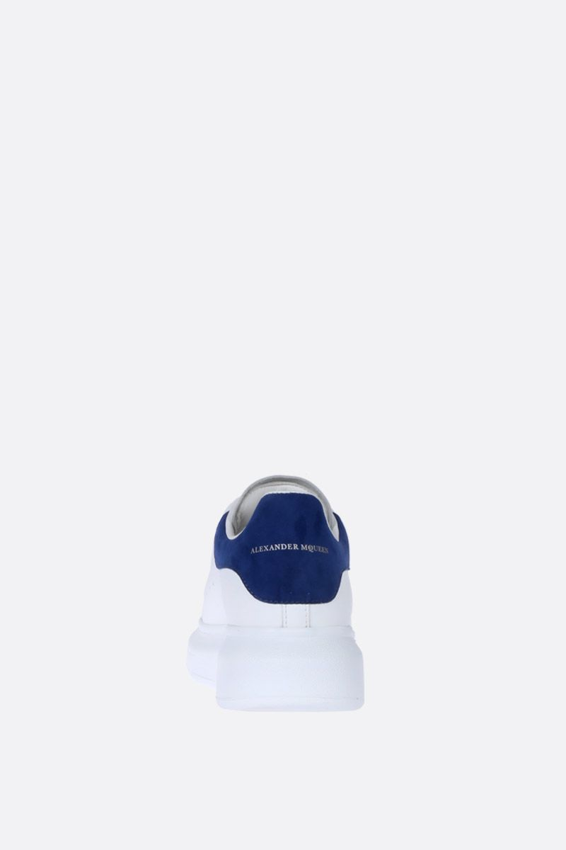 ALEXANDER McQUEEN: Oversize sneakers in Larry leather Color White_3