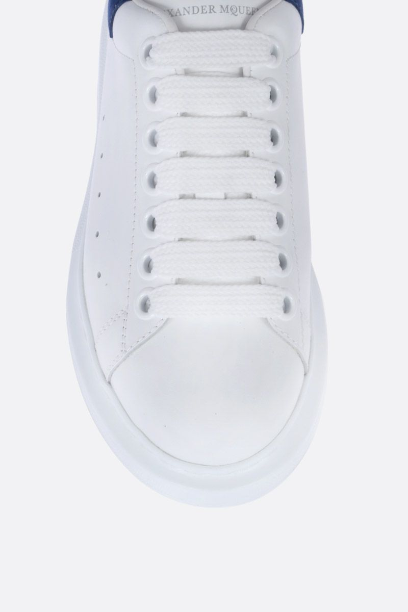 ALEXANDER McQUEEN: Oversize sneakers in Larry leather Color White_4
