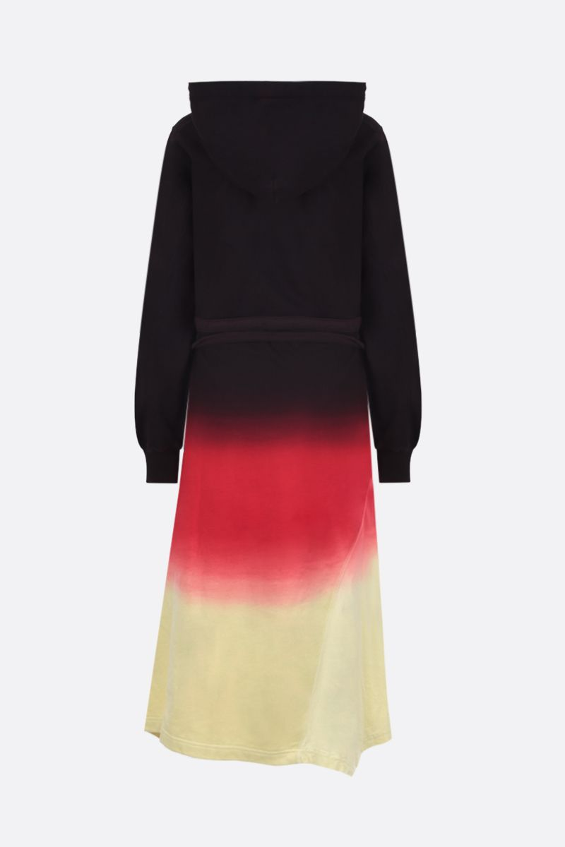 AMBUSH: tie and dye cotton hoodie-dress Color Black_2
