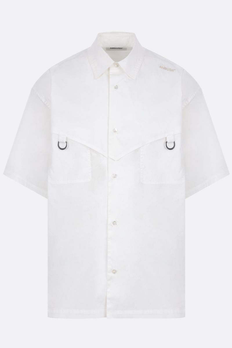 AMBUSH: oversize cotton short-sleeved shirt Color White_1