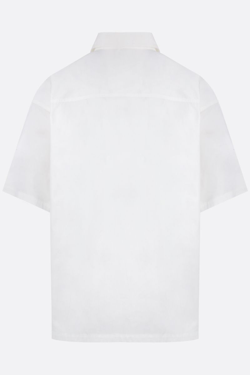 AMBUSH: oversize cotton short-sleeved shirt Color White_3