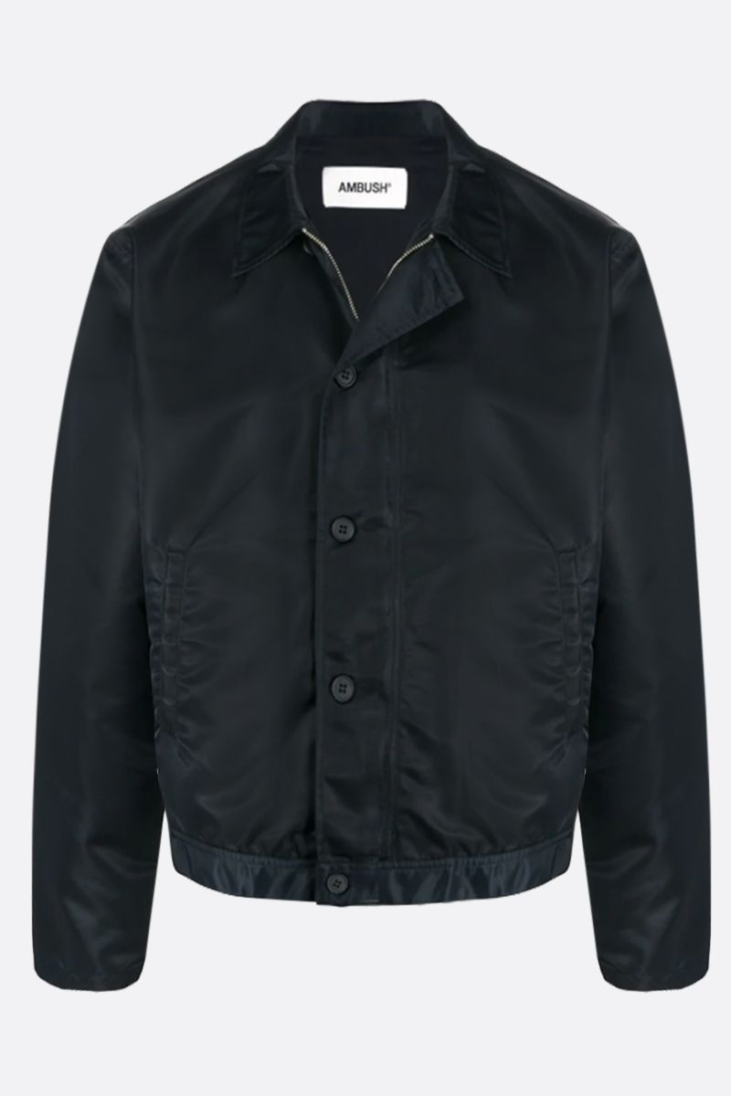 AMBUSH: logo print nylon jacket Color Black_1