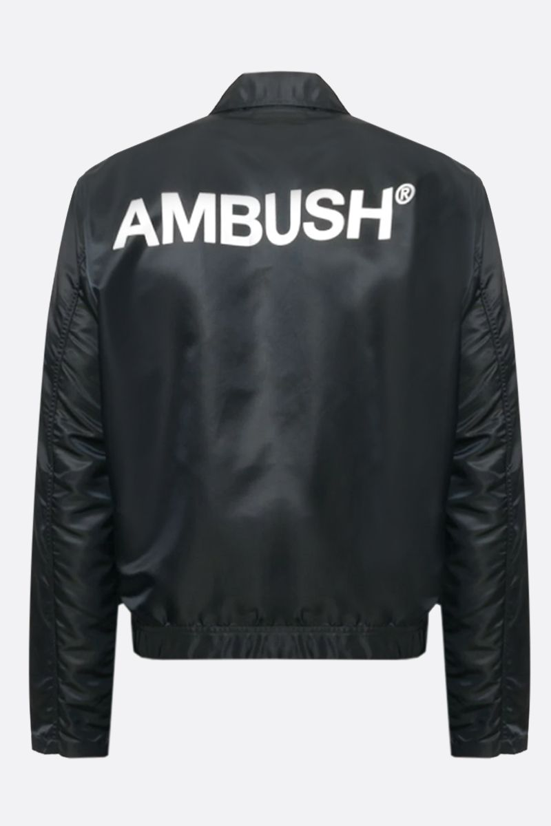 AMBUSH: logo print nylon jacket Color Black_2