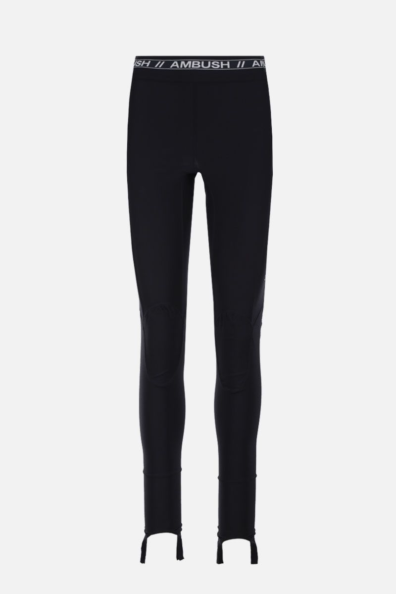 AMBUSH: scuba fabric leggings Color Black_1