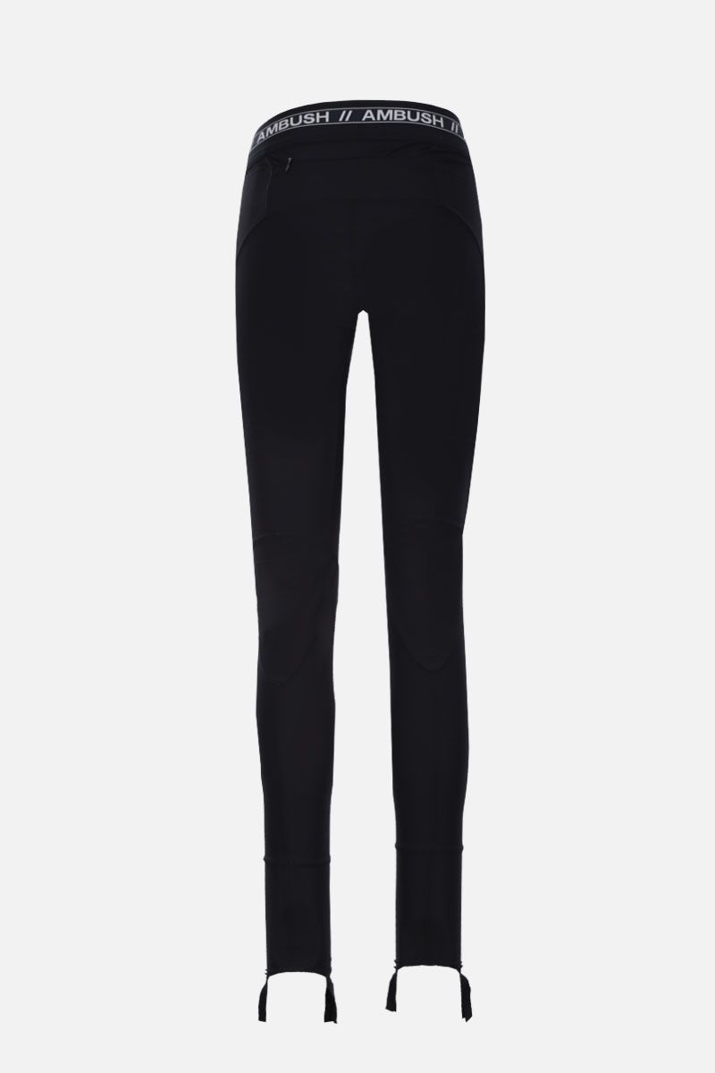 AMBUSH: scuba fabric leggings Color Black_2