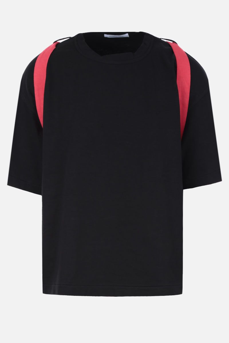 AMBUSH: belt-detailed cotton t-shirt Color Black_1