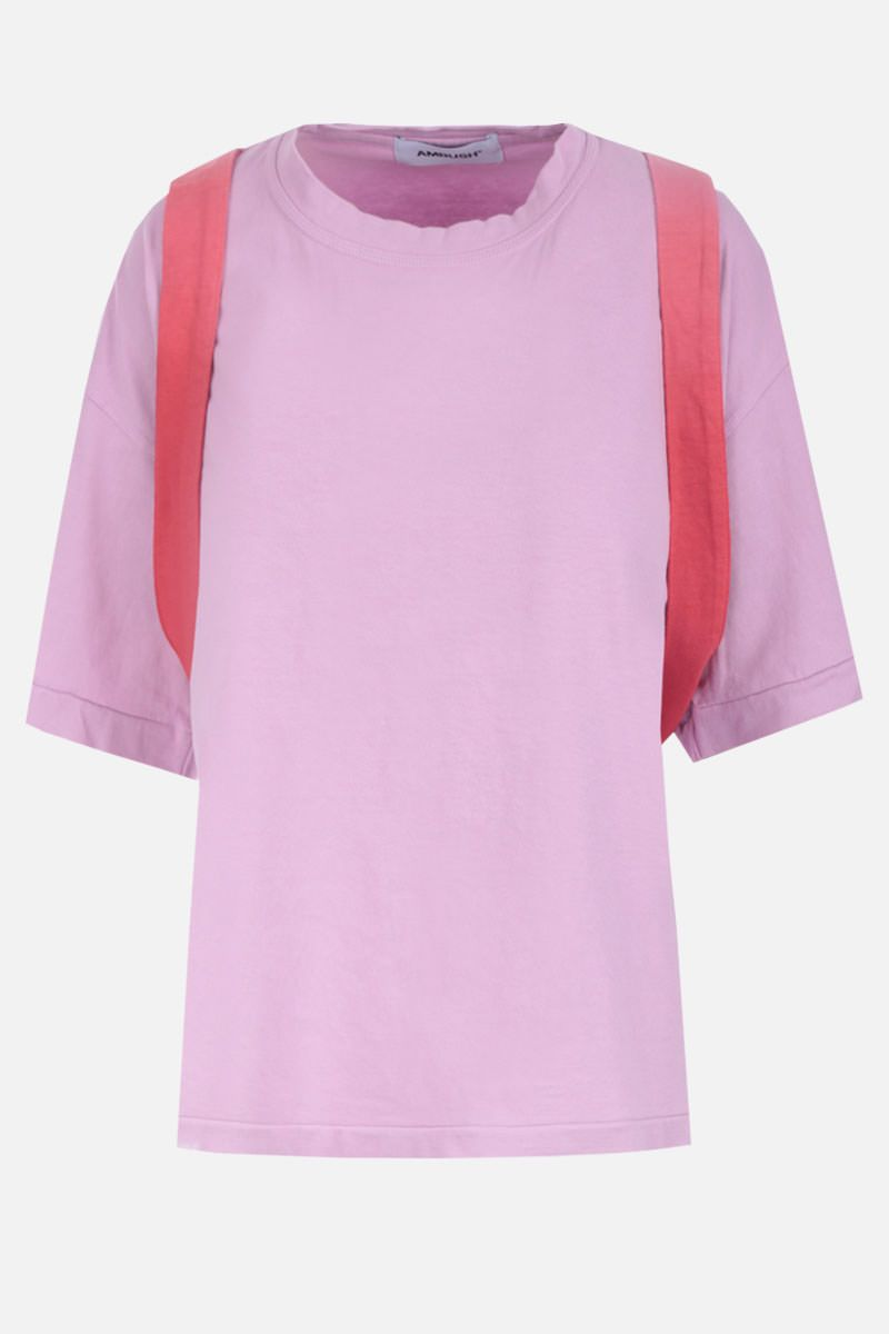 AMBUSH: belt-detailed cotton t-shirt Color Pink_1