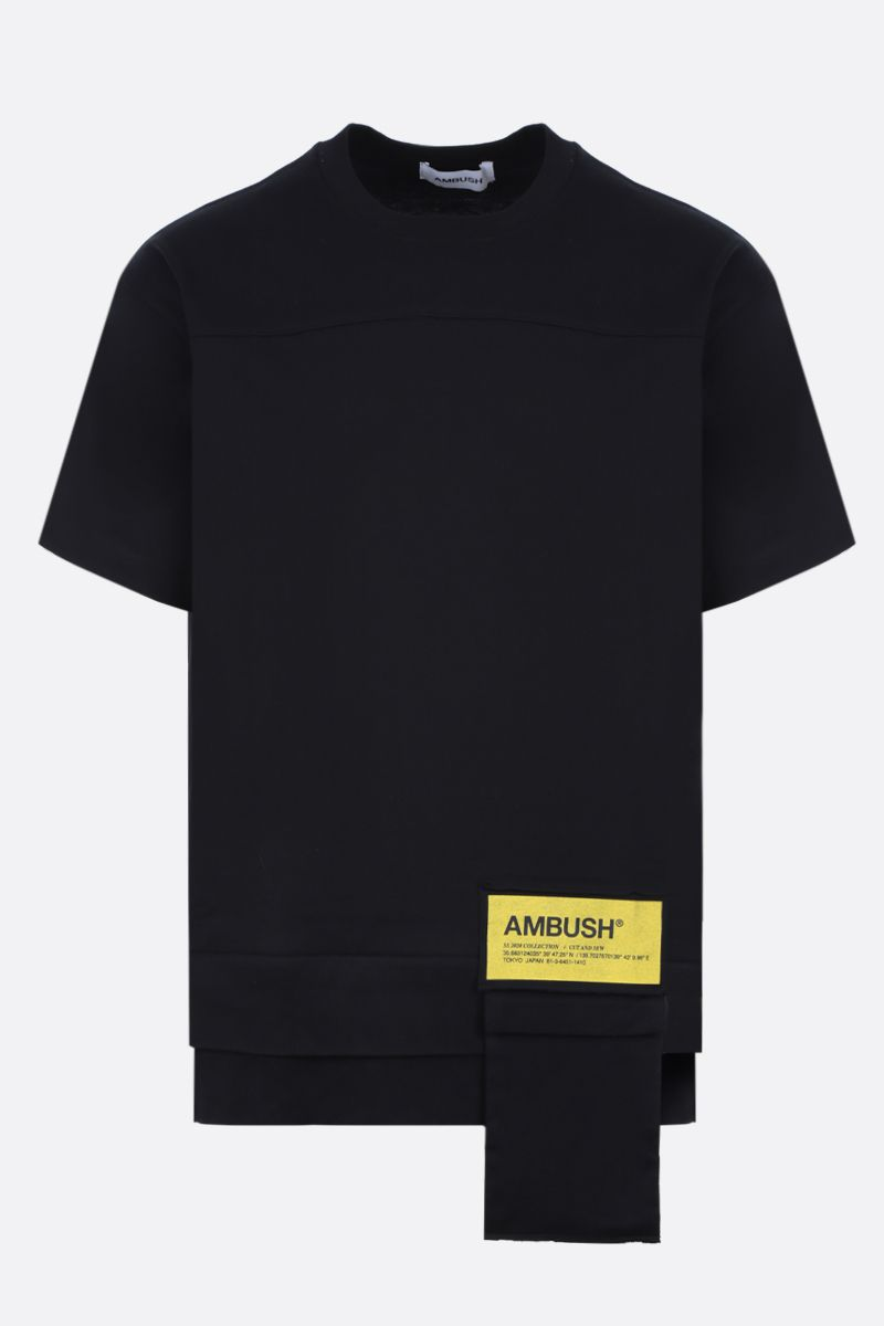 AMBUSH: AMBUSH® patch-detailed jersey t-shirt Color Black_1
