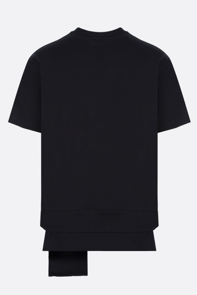 AMBUSH: AMBUSH® patch-detailed jersey t-shirt Color Black_2