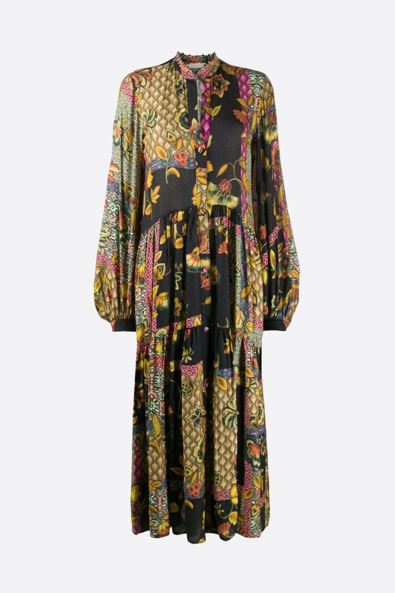 ANJUNA: Linda silk blend shirt dress Color Multicolor_1