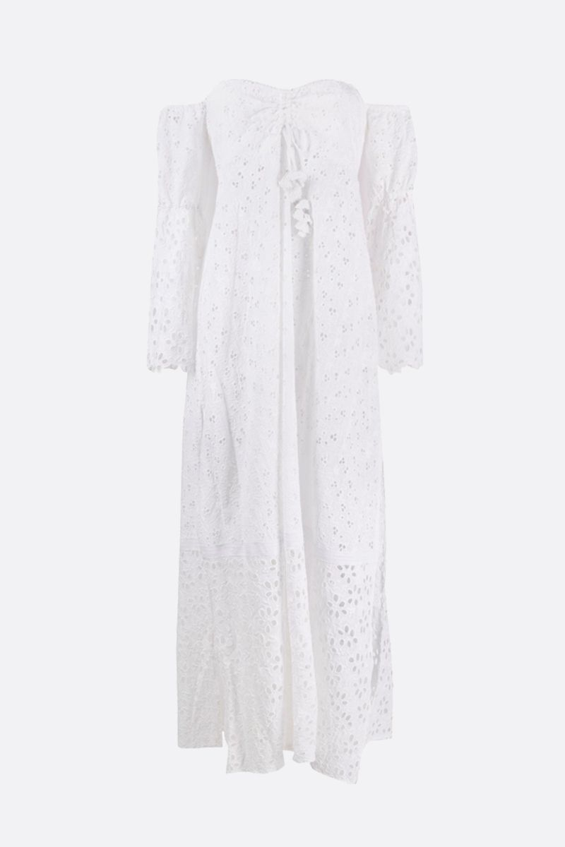 ANJUNA: Leandra broderie anglaise long dress Color White_1