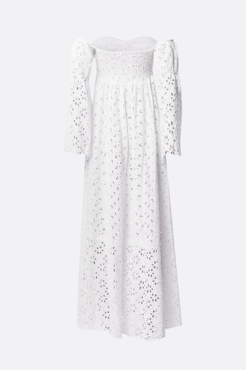 ANJUNA: Leandra broderie anglaise long dress Color White_2
