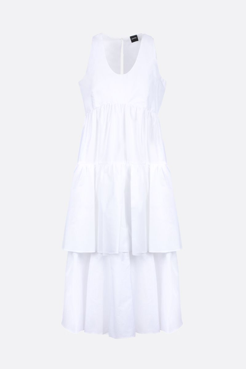 ASPESI: cotton poplin flounced dress Color White_1