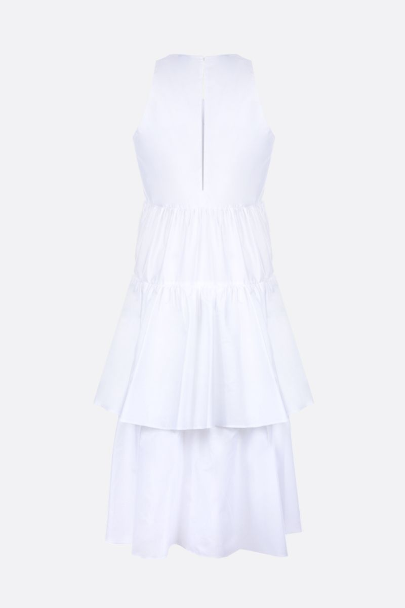 ASPESI: cotton poplin flounced dress Color White_2