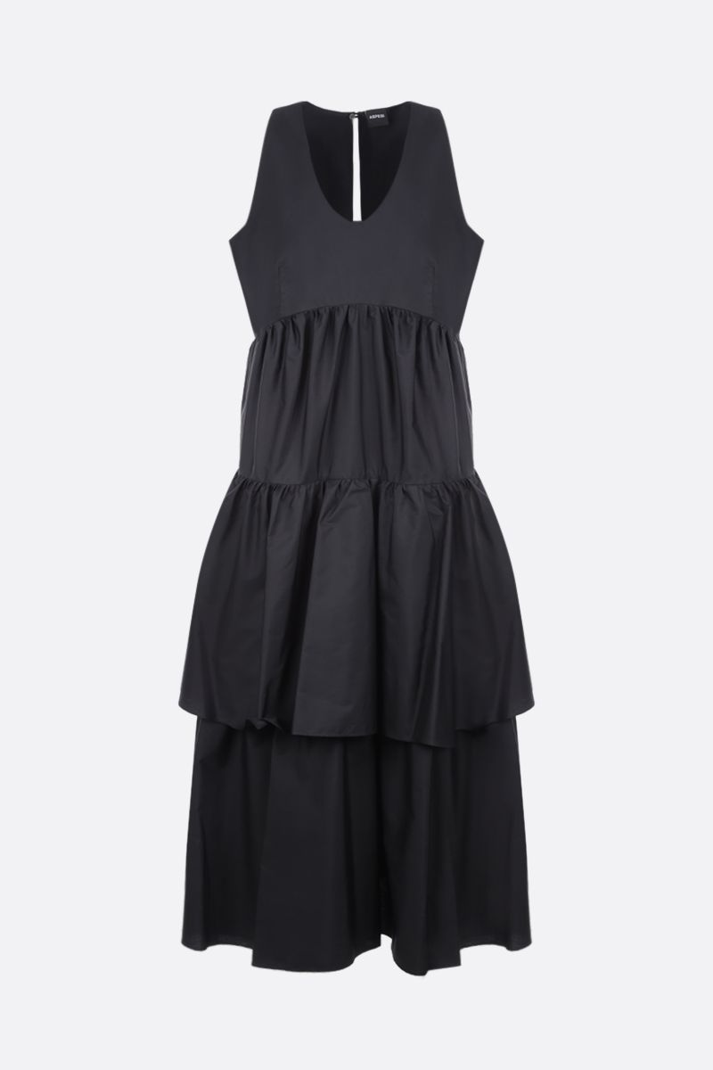 ASPESI: cotton poplin flounced dress Color Black_1