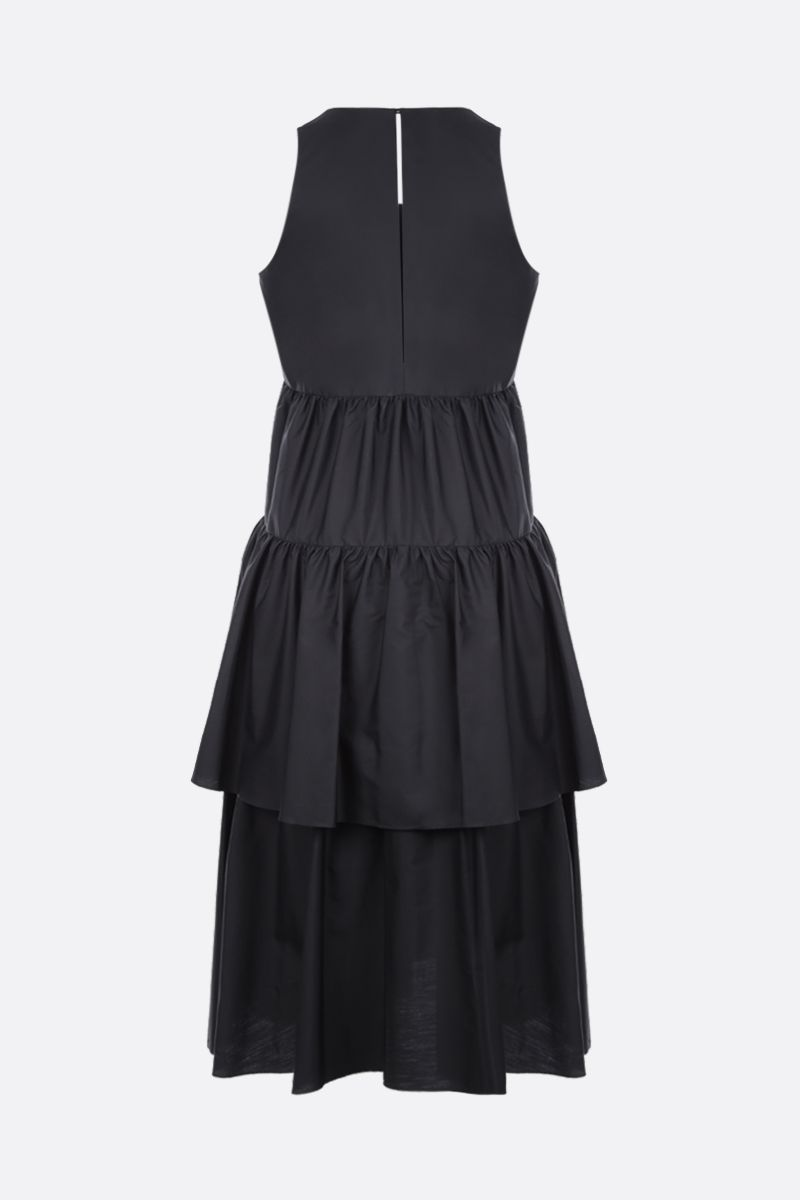 ASPESI: cotton poplin flounced dress Color Black_2