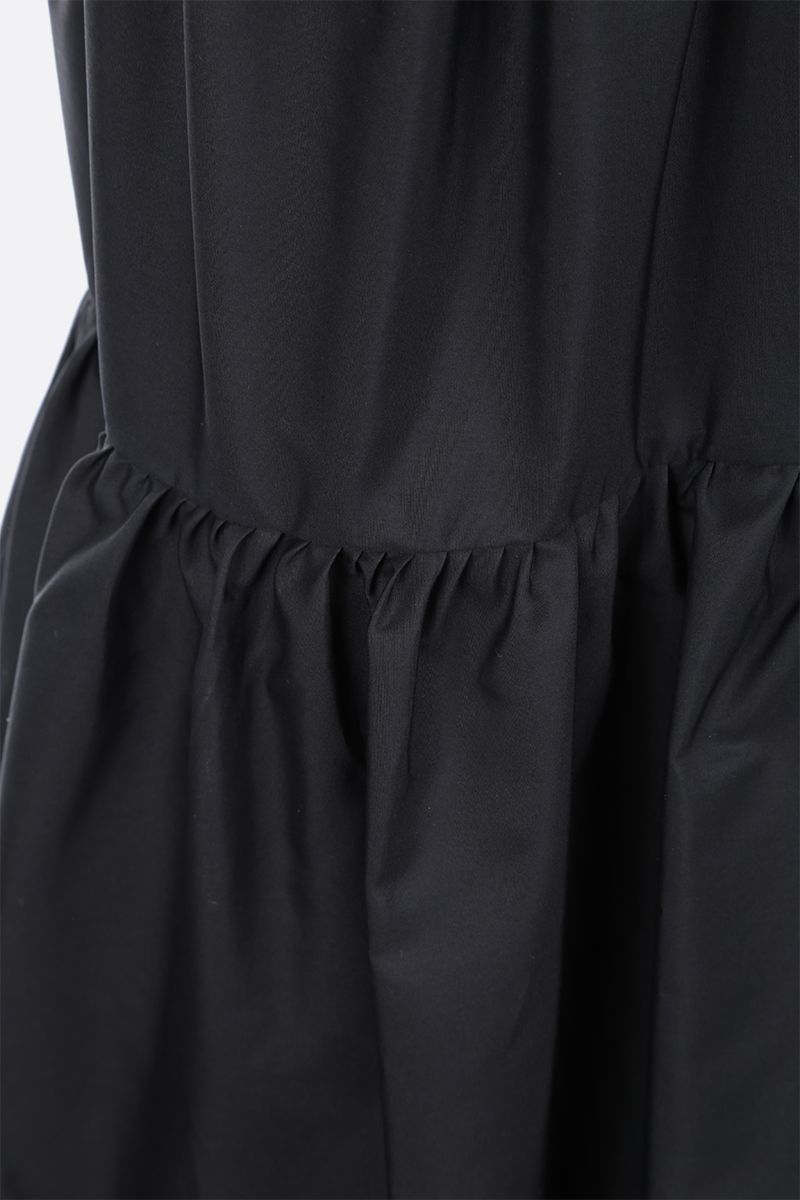 ASPESI: cotton poplin flounced dress Color Black_3