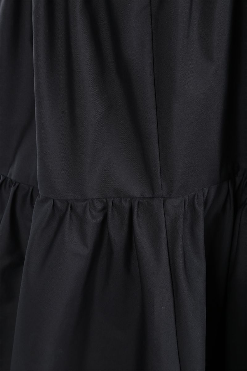 ASPESI: cotton poplin flounced dress Color Black_4