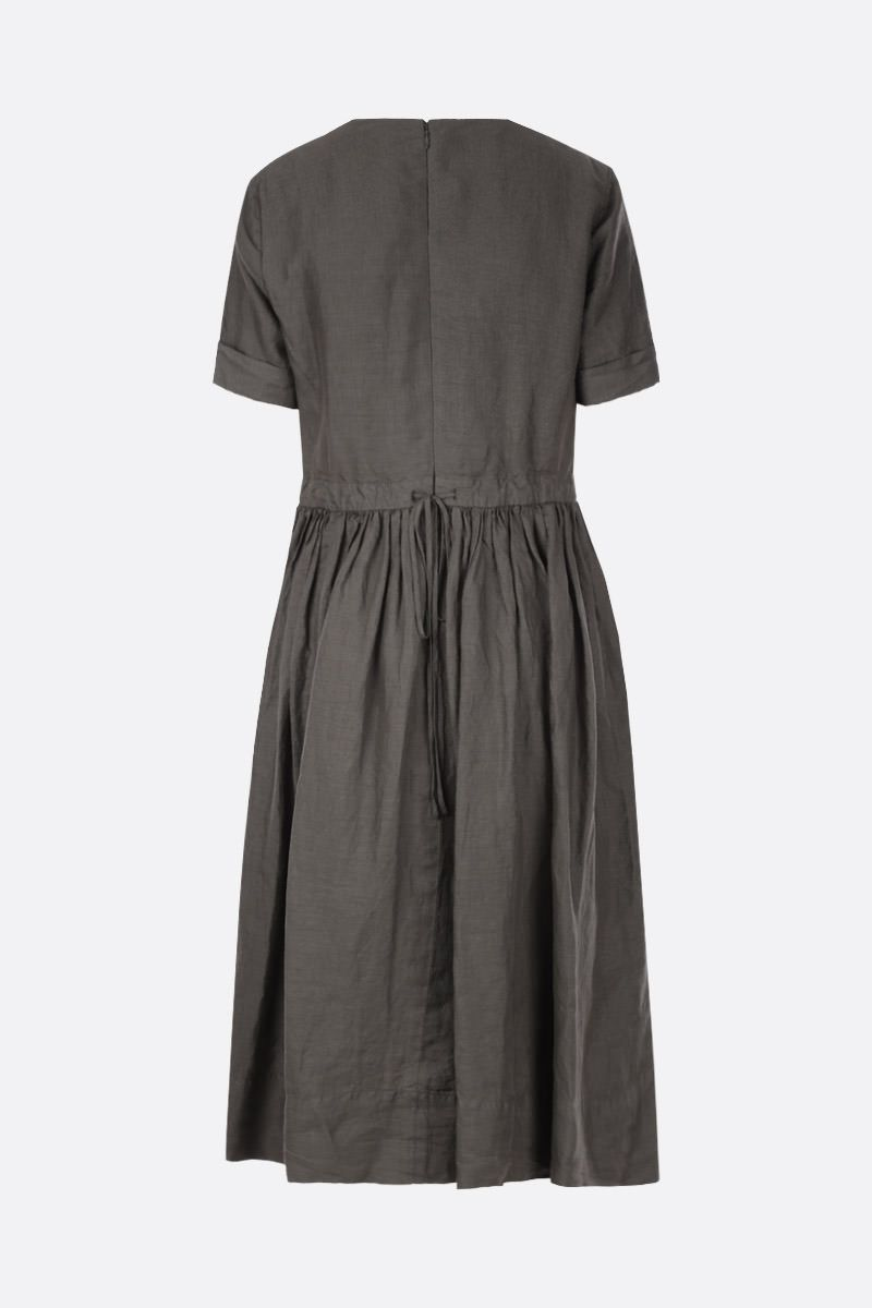 ASPESI: linen midi dress Color Green_2