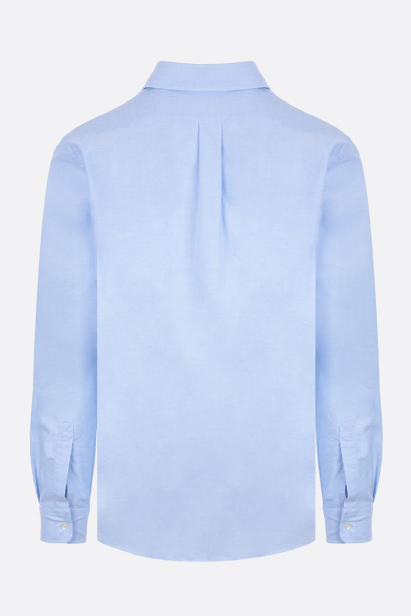 ASPESI: camicia slim-fit in oxford di cotone Colore Blu_2