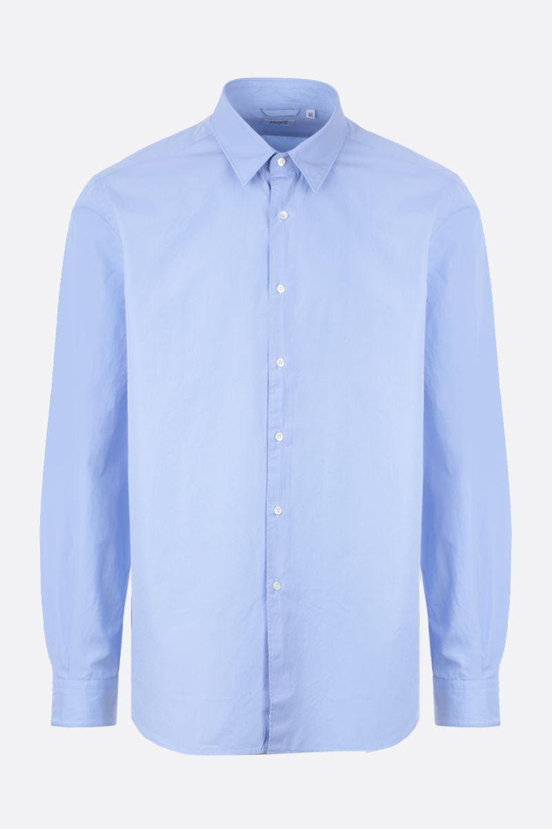 ASPESI: Comma cotton shirt Color Blue